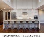 beautiful modern kitchen in new ... | Shutterstock . vector #1361594411