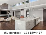 beautiful modern kitchen and... | Shutterstock . vector #1361594417