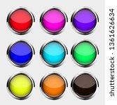 set of realistic colored... | Shutterstock .eps vector #1361626634