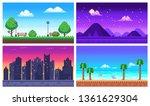 pixel art landscape. summer... | Shutterstock .eps vector #1361629304