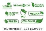vegan tag label. veganism badge ... | Shutterstock .eps vector #1361629394