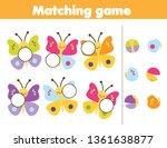 matching children educational... | Shutterstock .eps vector #1361638877