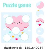 jigsaw puzzle for toddlers.... | Shutterstock .eps vector #1361640254