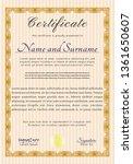 orange certificate of... | Shutterstock .eps vector #1361650607