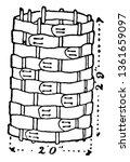 gabion is an open cylinder made ... | Shutterstock .eps vector #1361659097