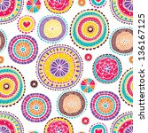 ornate floral seamless texture  ... | Shutterstock .eps vector #136167125