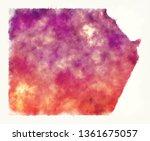 new valley watercolor... | Shutterstock . vector #1361675057