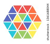 color logo in flat design for... | Shutterstock .eps vector #1361688044