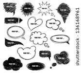 Set Of Speech Bubbles In Vector.