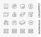 mattress icons set. thin line...   Shutterstock .eps vector #1361699927
