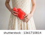 close up woman has abdominal...   Shutterstock . vector #1361710814