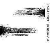 grunge black blots and...   Shutterstock .eps vector #1361714924