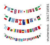 set of garlands with true... | Shutterstock .eps vector #1361718581