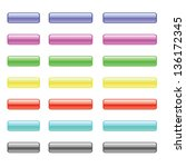 set of colorful glass buttons... | Shutterstock . vector #136172345