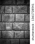 stone wall background in black... | Shutterstock . vector #1361728541