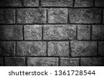 stone wall background in black... | Shutterstock . vector #1361728544