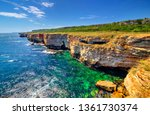 beautiful landscape with rocky... | Shutterstock . vector #1361730374