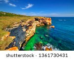 beautiful landscape with rocky... | Shutterstock . vector #1361730431