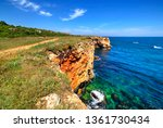 beautiful landscape with rocky... | Shutterstock . vector #1361730434