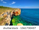 beautiful landscape with rocky... | Shutterstock . vector #1361730437