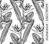 elegant seamless pattern with...   Shutterstock .eps vector #1361730494