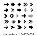 set arrows mark flat style... | Shutterstock .eps vector #1361736794