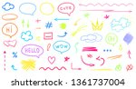 hand drawn infographic elements ... | Shutterstock . vector #1361737004