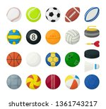 set of balls for different... | Shutterstock .eps vector #1361743217