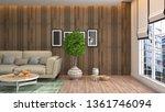 interior of the living room. 3d ... | Shutterstock . vector #1361746094