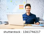 startup businessman sitting at... | Shutterstock . vector #1361746217