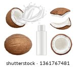 coconut collection. fresh... | Shutterstock .eps vector #1361767481