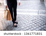 asian girls holding sale... | Shutterstock . vector #1361771831
