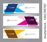 banner background.business... | Shutterstock .eps vector #1361785787