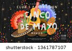 cinco de mayo  vector... | Shutterstock .eps vector #1361787107