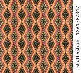 colorful seamless ikat persian...   Shutterstock . vector #1361787347