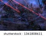 ruined abandoned city after war ... | Shutterstock . vector #1361808611
