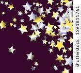 confetti stars. diagonal border.... | Shutterstock .eps vector #1361811761