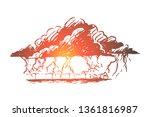 lightning  strike  cloud  storm ... | Shutterstock .eps vector #1361816987