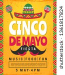poster of mexican fiesta.... | Shutterstock .eps vector #1361817824