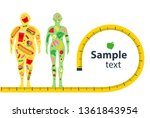 weight loss concept. before and ... | Shutterstock .eps vector #1361843954
