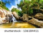 Hin Lad Waterfall. Koh Samui ...