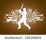 illustration of a cricket... | Shutterstock .eps vector #136186601