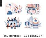 technology 3 set   modern flat... | Shutterstock .eps vector #1361866277
