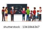 professor explaining seminar... | Shutterstock .eps vector #1361866367