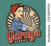 Vintage Garage Service Emblem...