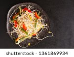 salad with sprouted soybean... | Shutterstock . vector #1361869934