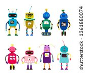 robots for girls and boys... | Shutterstock .eps vector #1361880074