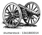 British Cannon Captured At...