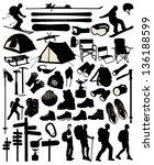 mountain accessory set | Shutterstock .eps vector #136188599