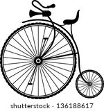 vintage bicycle | Shutterstock .eps vector #136188617